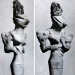 Фигурки найденные в районе Древней Месопотамии. Возраст около 7000 лет.
