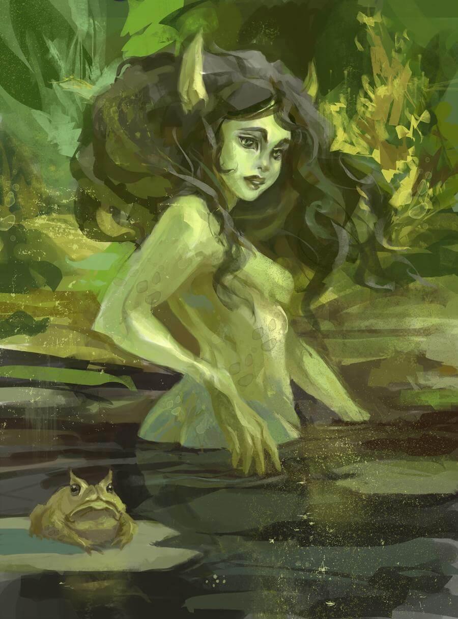 фото слева картинки про кикимору болотную потому