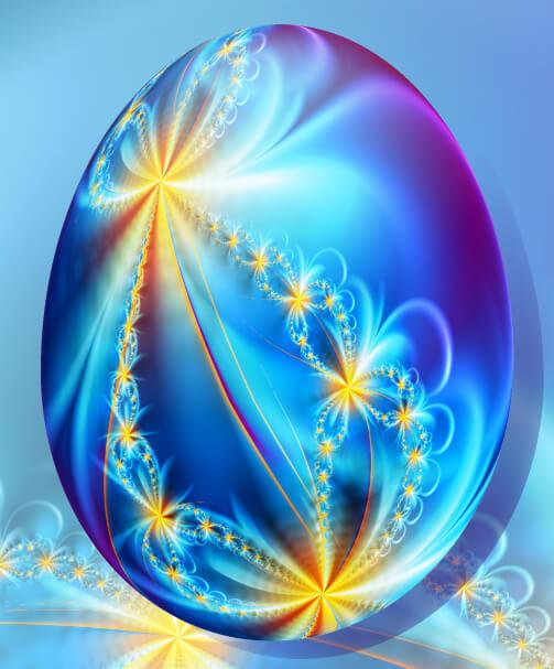 Красивое пасхальное яйцо