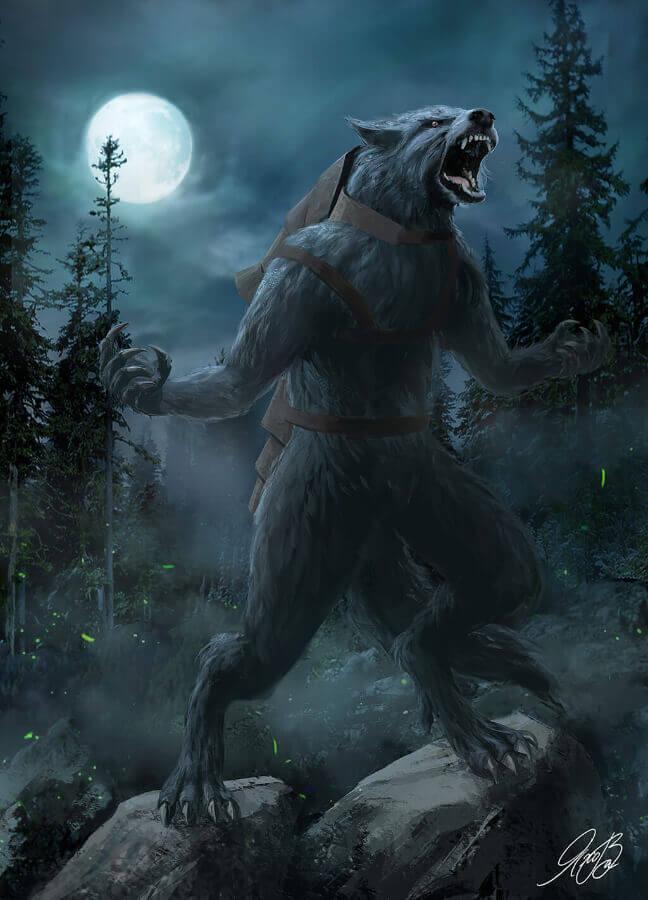 Луна вызывает превращение волколака в волка