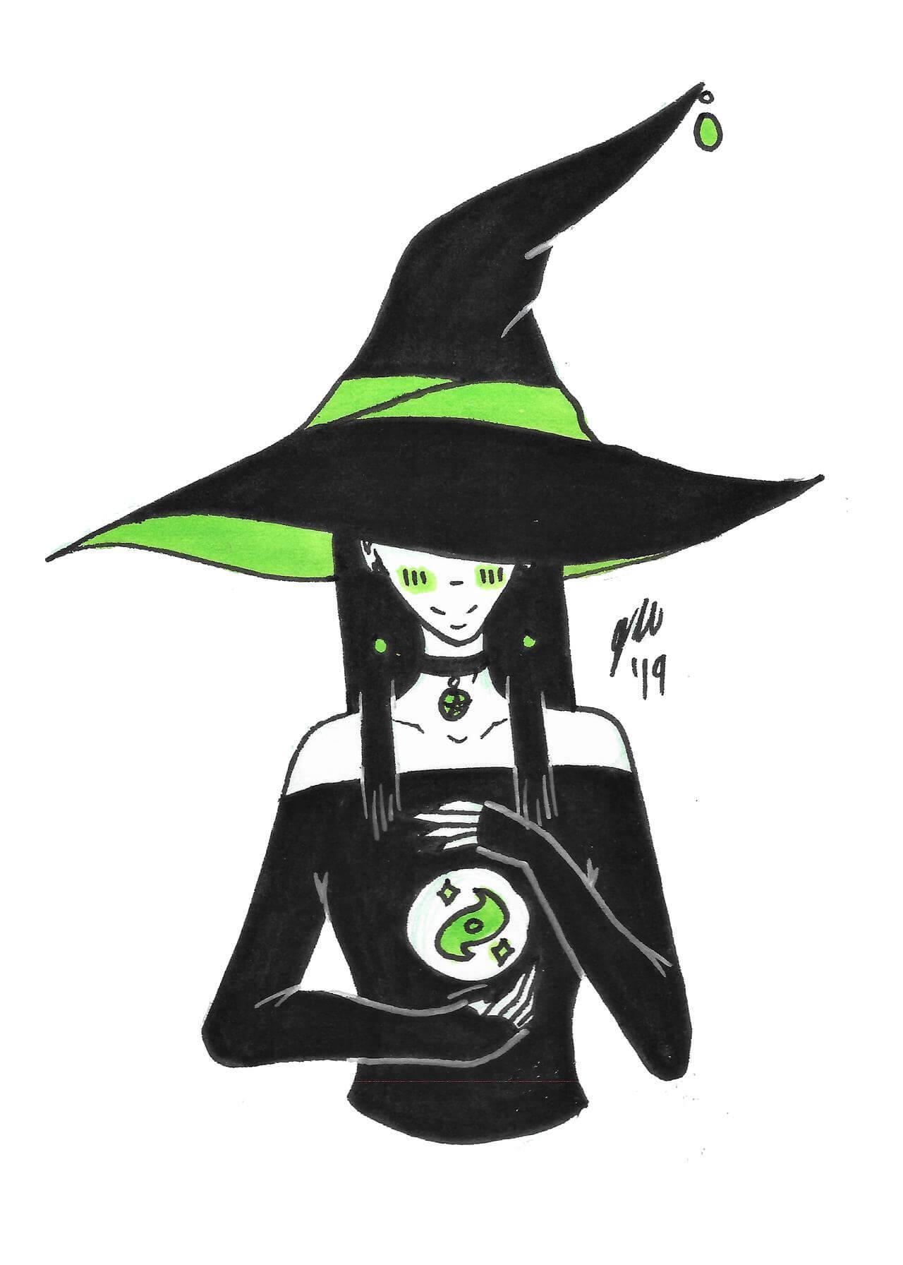 Ведьмочка гадает на любовь