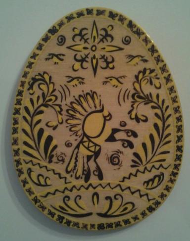 Мезенская роспись по древу