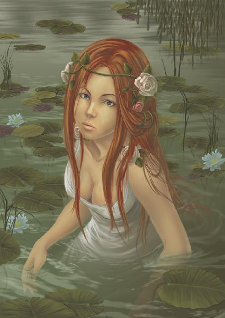 Нимфа в озере