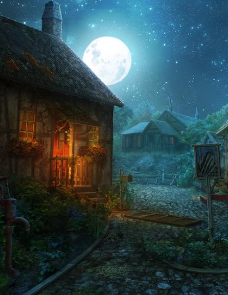 Приснилась ночная деревня