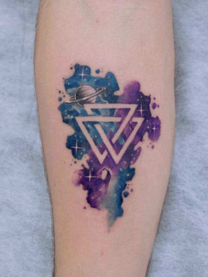 Валькнут в качестве татуировки